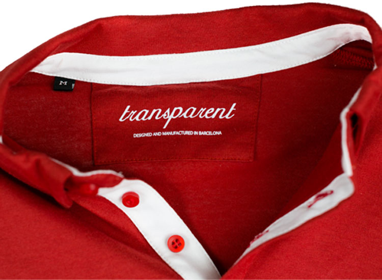 Transparent brand label
