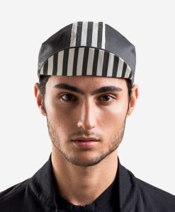 casual-cycling-black-white-stripes-cap-front
