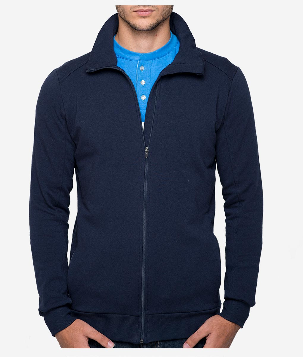 casual-cycling-blue-high-collar-jacket-front-close