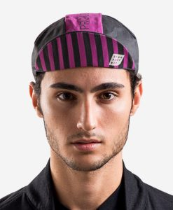 casual-cycling-fuxia-black-cap-front