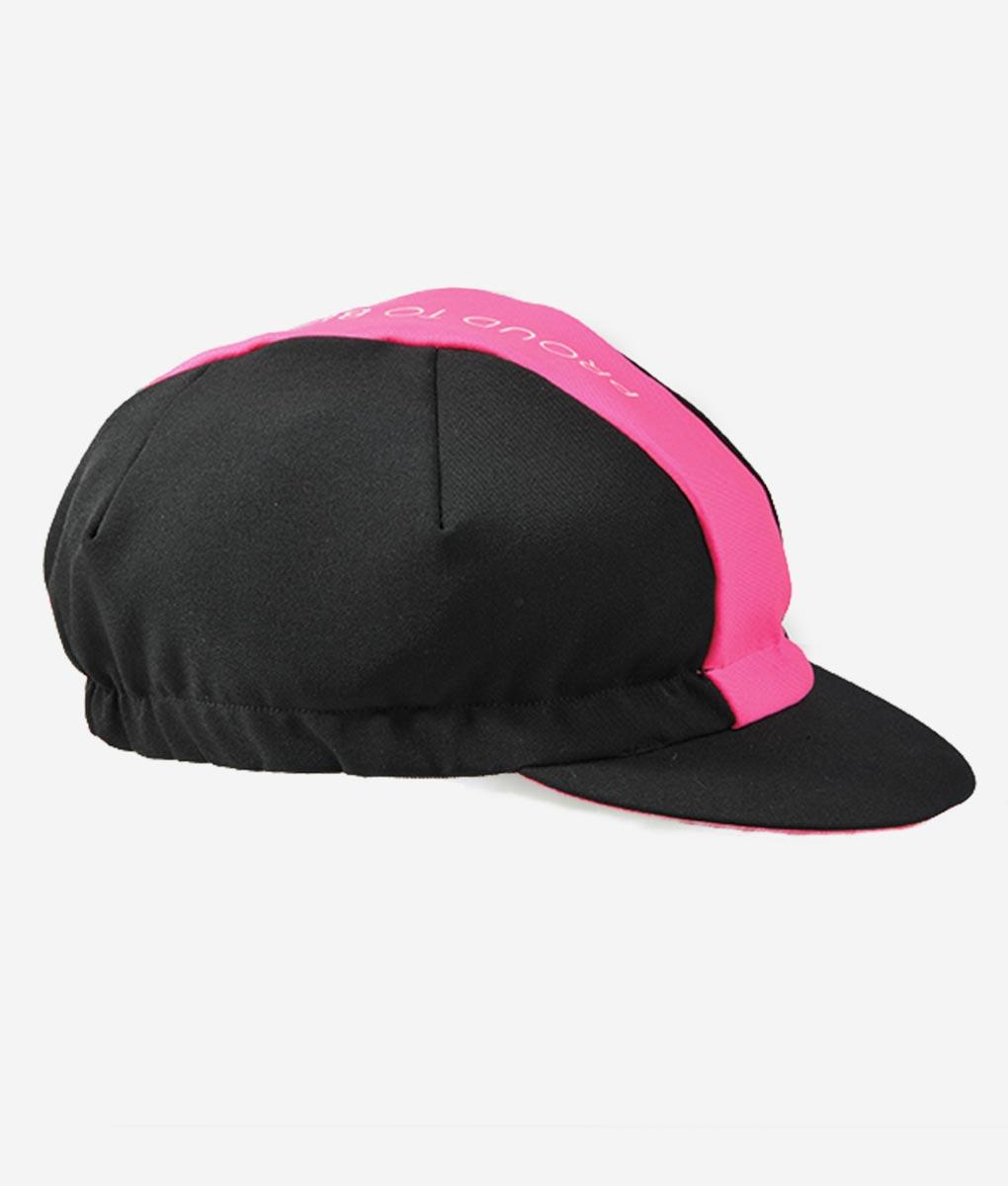 Pink-fluor-cycling-cap-transparent