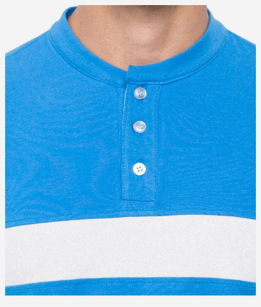 casual-cycling-clothing-button-blue-tee-front-detail