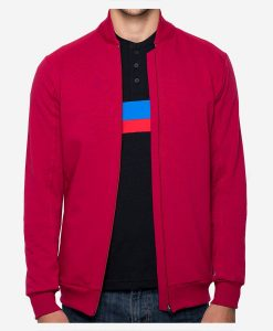casual-cycling-red-rib-collar-jacket-front