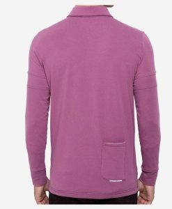 casual-cycling-clothing-polo-buttons-magenta-back