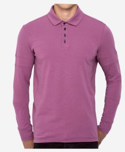 casual-cycling-clothing-polo-buttons-magenta-front