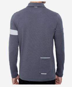 casual-cycling-clothing-polo-zip-grey-back