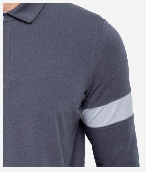 casual-cycling-clothing-polo-zip-grey-brazlet-detail