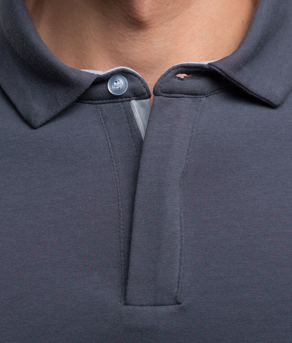 Transparent-casual-cycling-titanium-classic-polo-neck-detail