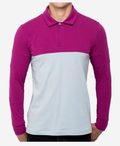 casual-cycling-clothing-polo-zip-lilac-grey-front