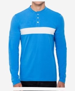 casual-cycling-button-blue-tee-front