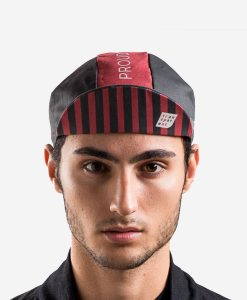 casual-cycling-red-black-cap-model-front-up