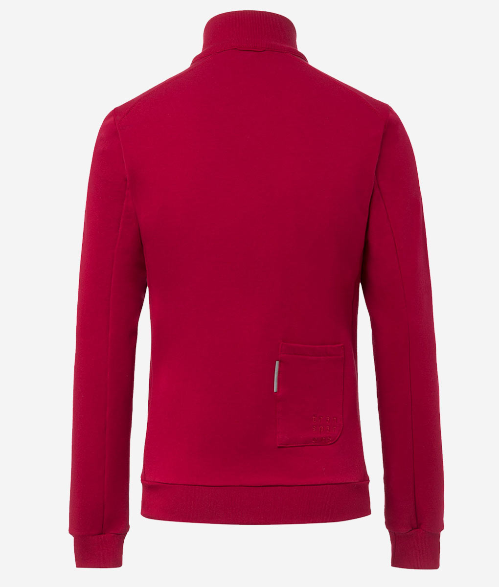 Casual-cycling-classic-maroon-cardigan-back