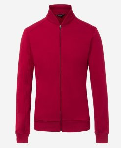 Casual-cycling-Burgundy-classic-jacket-front