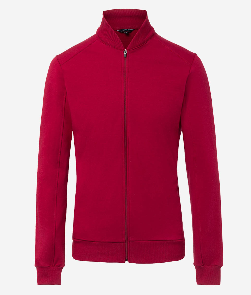 Casual-cycling-classic-maroon-cardigan-front