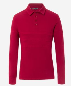 Transparent-casual-cycling-polo-rojo