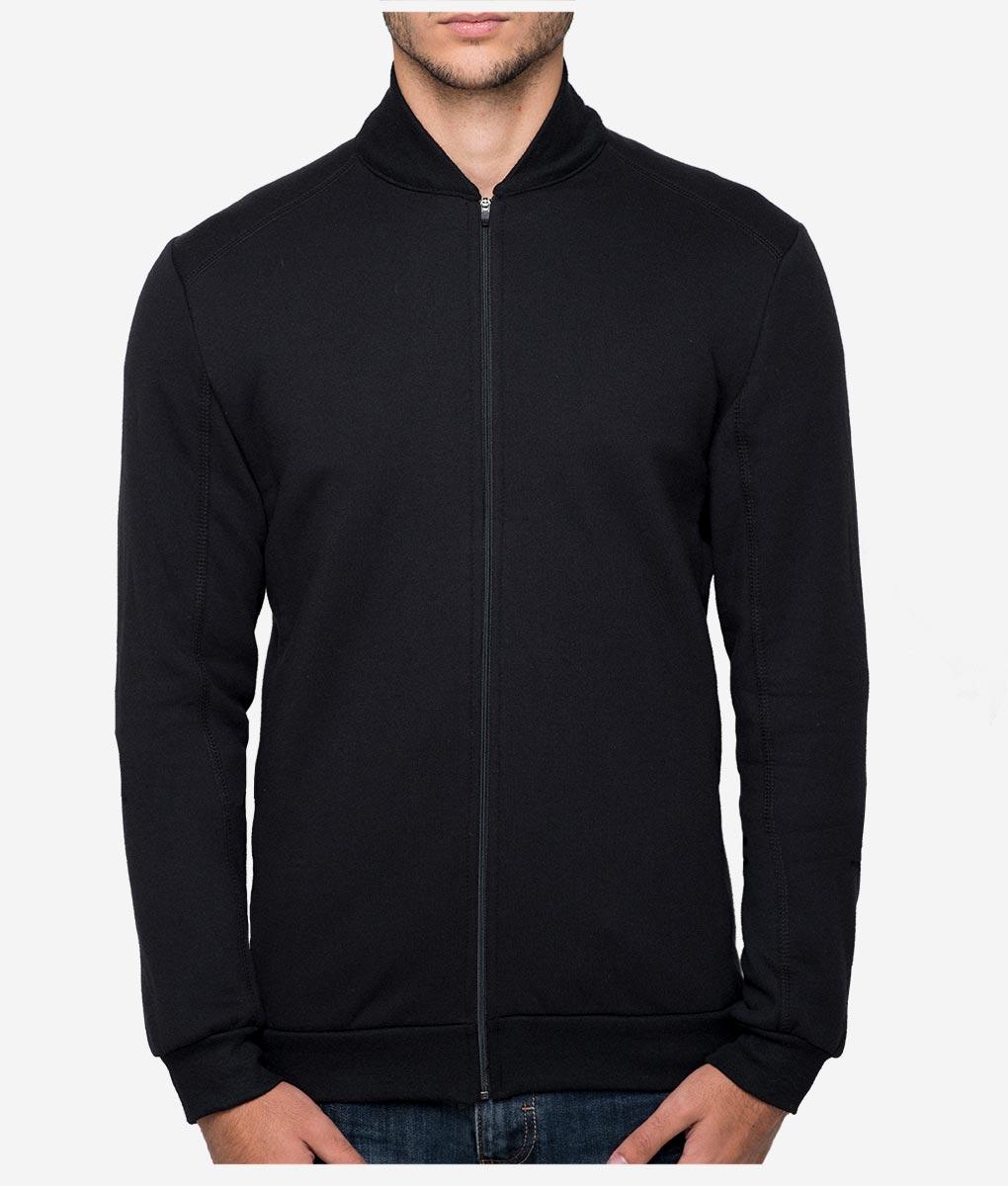 casual-cycling-black-rib-collar-jacket-front