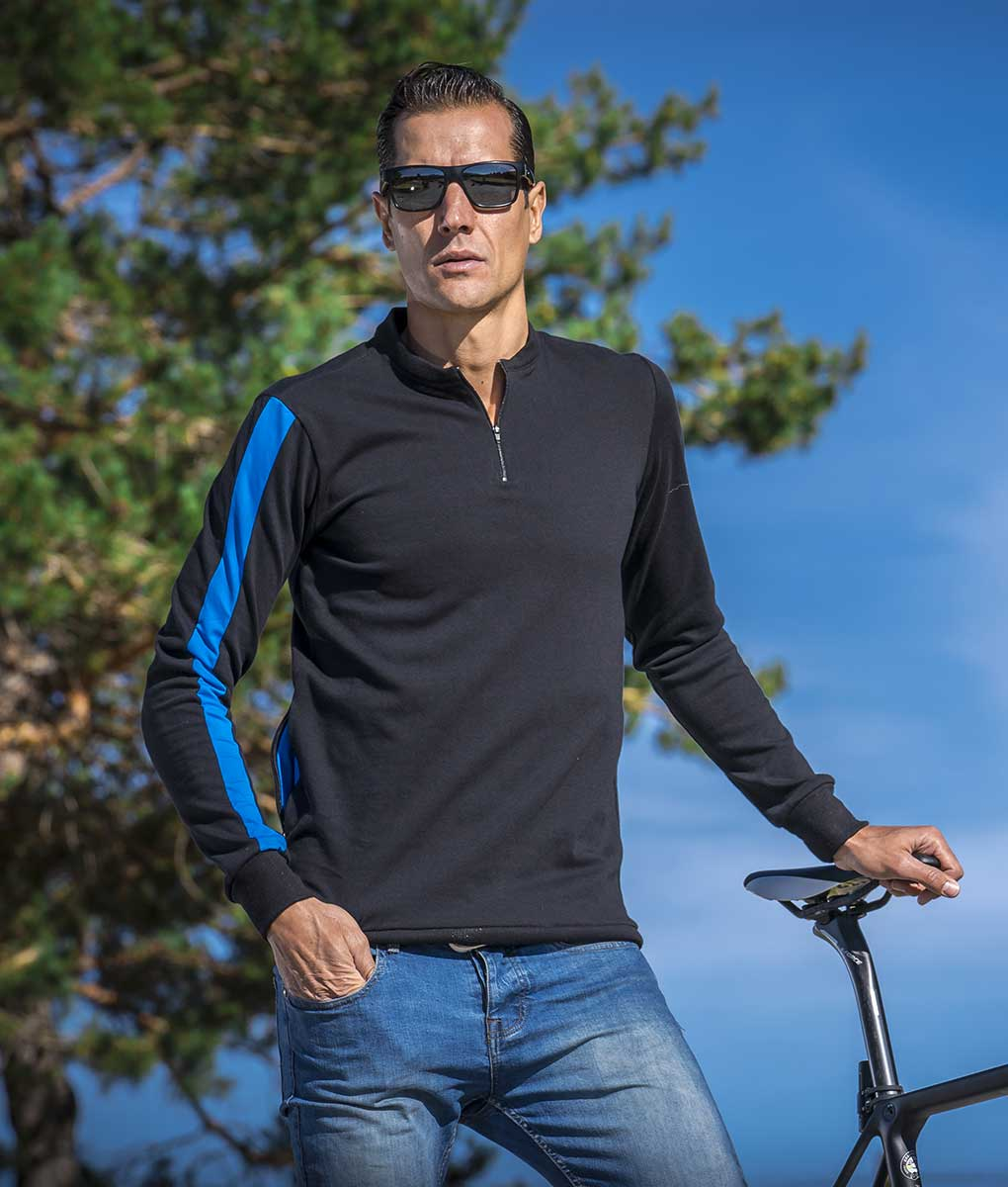 casual-cycling-sweater-fluor-blue-front