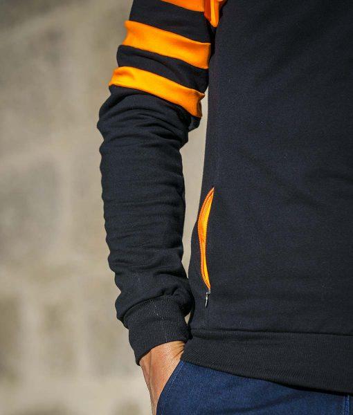 casual-cycling-chaqueta-fluor-negro-manga.pared