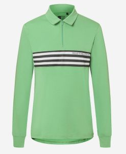 Track-polo-verde-front-transparent-casual-cycling