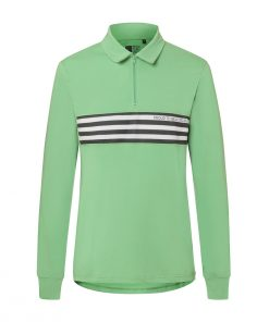 Track-polo-verde-transparent-casual-cycling