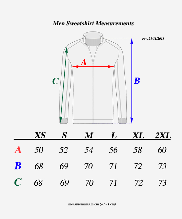 Men-sweatshirt-Measurements