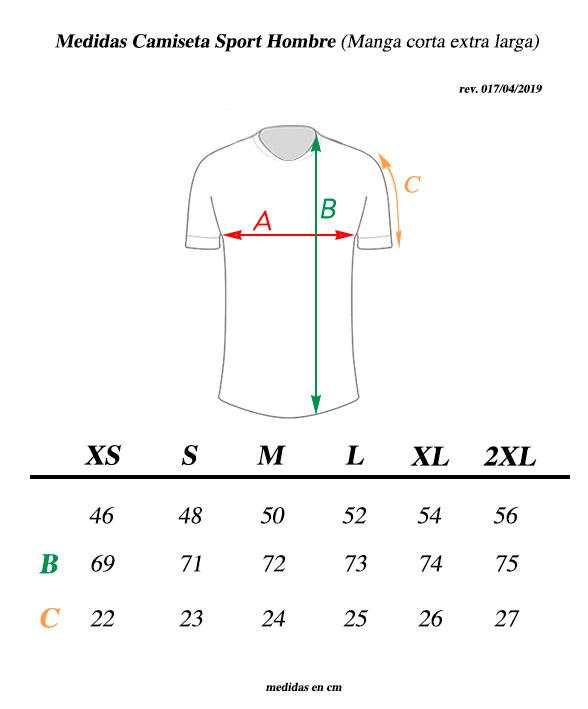 Medidas camiseta Transparent ciclismo casual
