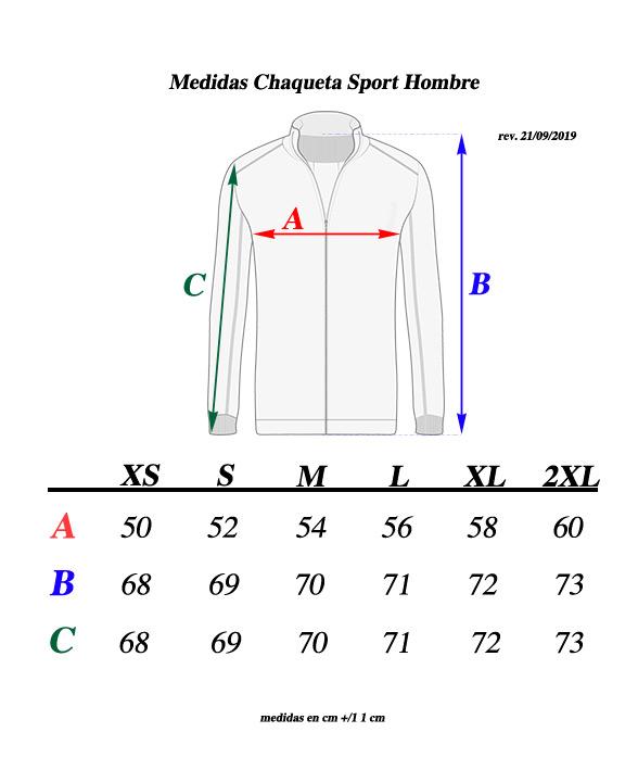 medidas chaqueta transparent