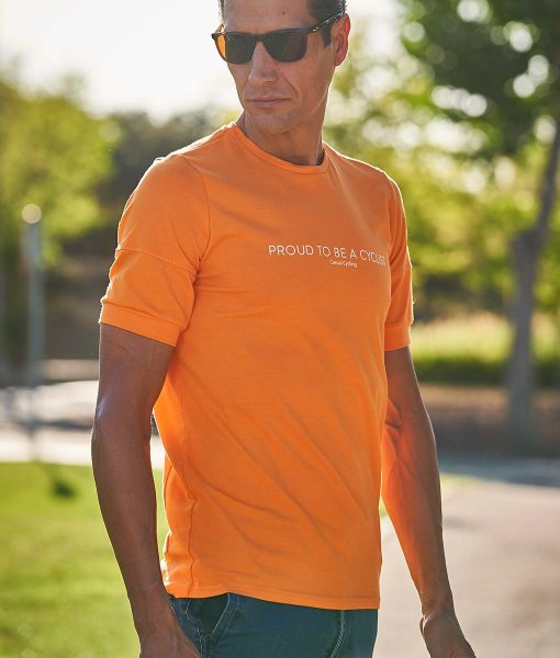 Proud to be a cyclist t-shirt casual cycling transparent